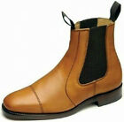 MEN'S LEATHER LOAKE CHELSEA BOOTS TAN OILED LEATHER STYLE-NEWBURY