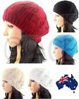 Ladies Beret Womens Beanies Women Beanie Hat Cable Knit Knitted Wool Beret Hats