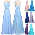 GK 1 shoulder Bridesmaid Prom Wedding Gown Evening Cocktail Party Princess Dress
