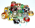 925 Stamped Sterling Silver Core Murano Glass Charm Bead Buyers Choice (Lot #1)