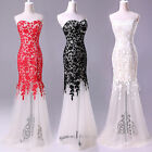 Clearance Long Lace Tulle Evening Formal Bridesmaid Ball Gown Prom Party Dresses