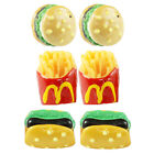 FUNKY BURGER FRIES STUD EARRINGS QUIRKY FAST JUNK FOOD RETRO CHIPS KITSCH FUN