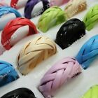 40-80PCS Wholesale lots Jewelry multicolor man-made Braided Rings free shipping