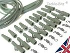 Fishing Tackle Swivels 32pc Carp End Tackle weight lead clips Rig Tube Hair rigs