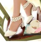 Women foot ring strap shoes with thick lace temperament elegant sandals RX520