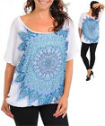Women's Blouse and Camisole Set White & Shades of Blue