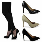 womens ladies stiletto heel office work day party prom wedding court shoes size