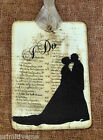 Hang Tags  I DO BRIDE & GROOM SILHOUTTE WEDDING TAGS or MAGNET #656  Gift Tags