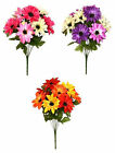 Artificial Flowers Dahlia 47cm - 9 Satine Head 13cm dia. Bunch Posy Bush