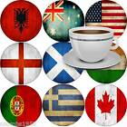 FLAGS OF THE WORLD DRINKS COASTER ALBANIA AUSTRALIA POLAND LITHUANIA ETC