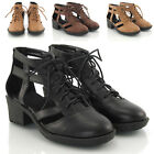 WOMENS LADIES CHUNKY SOLE CUT OUT CHELSEA SANDALS ANKLE SHOE BOOTS SIZE 3-8