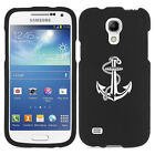 For Samsung Galaxy S4 MINI S IV Rubber Hard 2 Piece Case Cover Anchor w/ Rope