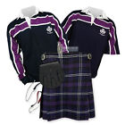 SPORT KIT ESSENTIAL KILT OUTFIT - PURPLE STRIPE RUGBY TOP - HERITAGE OF SCOTLAND