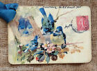 Hang Tags  FRENCH BLUE BIRD POSTCARD TAGS or MAGNET #18  Gift Tags