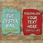 Personalised Driftwood Style Sign, Surf Beach Hut Sign Wooden Effect Old plank