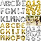 """16""""/40"""" Silver Gold Foil Letter Number Balloon Wedding Birthday Party Decoration"""