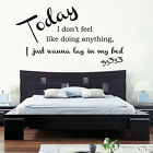 Bruno Mars - Lazy Song Lyrics Wall Art Quote Vinyl Transfer Decal Sticker Mural