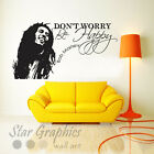 Bob Marley Dont Worry Be Happy Wall Art Quote Vinyl Transfer Decal Sticker Mural