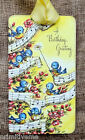 Hang Tags  BLUE BIRD HAPPY BIRTHDAY GREETINGS MUSIC TAGS #631  Gift Tags