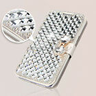 Silk Bling Diamond Stand Leather Wallet Cover Case For Samsung Galaxy S4 i9500