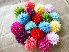 "Gerbera Daisy Artificial Silk Flower Heads Wedding bride decor party 2.7""/6.8cm"