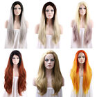"Long Straight 18""-28"" Grey / Orange / Blonde / Brown / Purple Lace Front Wig"