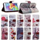 Retro PU Leather Wallet Flip Case Cover Stand fr Samsung Galaxy S5 SV i9600 G900