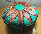 Egyptian Pharonic Hand Made Morcoan style leather Footstool Pouf Ottoman