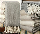 Soft & Warm Cashmere Throws/Blankets, Handmade Bed Sofa Chair Travel Throws