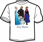 FROZEN PERSONALISED KIDS T SHIRT 2-11