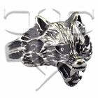 New Stainless Steel Wolf Head Ring Band Sizes 8, 9, 10, 11, 12, 13, 14, 15