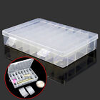 Adjustable Plastic 24 Compartment Storage Box Earring Jewelry Bin Case Container