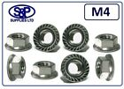 M4 - 4MM STAINLESS STEEL HEXAGON FLANGE NUT GRADE 304 A2 SERRATED FLANGE NUT