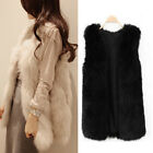 New Hot Sale Womens Faux Fur Shaggy Vest Sleeveless Coat Jacket Outerwear