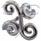 Womens Stainless Steel Filigree Swirl Ring Size 5, 6, 7, 8, 9 Womens Rings New