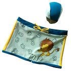 Cartoon Lion Swimsuits Boys Kids Swimming Short Briefs Trunks Swimwear with Hat