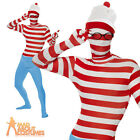 Where's Wally Second Skin Mens Stag Party Book Day Fancy Dress Costume