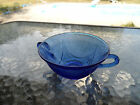 COBALT BLUE ROYAL LACE CREAM SOUP BOWL(S) BUY 1 UP TO 20 HAZEL ATLAS DEPRESSION