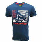 DRUNKNMUNKY T SHIRT AMERICAN DREAM MENS BLUE TOP