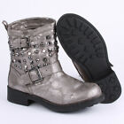 Mustang 3098501 Womens Ankle Boots Leather Brown Silver New Shoes Size 6 7 8 UK