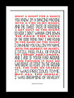 Kings of Leon Revelry typography song lyric art poster canvas and prints.