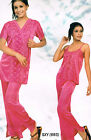 womens Ladies Pyjama suit with Gown SatinLyrca nightwear nighties london UK 3073