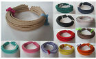 Whole Sales 5mm Metal Headband covered satin Hair band Accessory Free Shipping