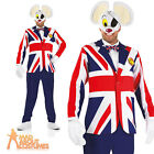 Great British Danger Mouse Costume (Dangermouse) 80s Cartoon Fancy Dress Outfit
