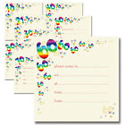 Pk 10 Birthday Party Invitations 18th 21st 30th 40th 50th 60th 70th 80th Invites