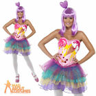 Candy Queen Katy Perry Fancy Dress Costume Pop Star Ladies Womens Outfit 4-14