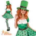 St Patricks Day Costume Sexy Leprechaun Fancy Dress Ladies Irish Outfit UK 8-22