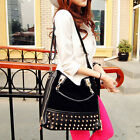 "Matte Rivet Portable Casual Shoulder Bags Women""s Bag   [HA]"