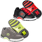 NEW HEELYS CHROME BOYS JUNIOR ADULTS LACE UP GREEN RED ROLLER TRAINERS BOOTS