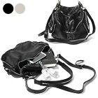 CASUAL UNISEX HOBO STYLE SHOULDER CROSS BAG PURSE PREMIUM REAL COWHIDE LEATHER